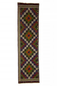 Turkish Rug Runner Anatolian Kilim Runner Rug 3x11 Feet 88,330