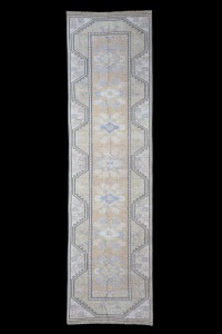 Turkish Rug Runner Art Deco Runner Rug 3x9 Feet 77,276
