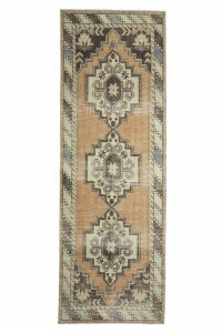 Turkish Rug Runner Art Deco Runner Rug 3x9 Feet 95,279