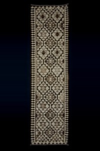 Turkish Rug Runner Beige Brown Kilim Rug Runner 3x11 Feet 93,326