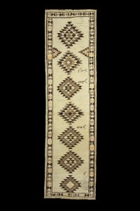 Turkish Rug Runner Beige Brown Rug Runner 3x11 Feet 93,340