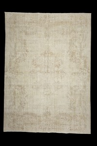 Turkish Carpet Rug Beige Turkish Oushak Rug 7x9 Feet 210,286