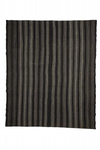 Goat Hair Rug Black And Gray Turkish Kilim Rug 8x9 Feet  230,273