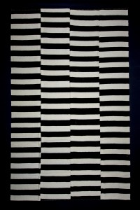 Turkish Natural Rug Black And White Morroccon Style Turkish Kilim Rug 8x12 Feet  227,365