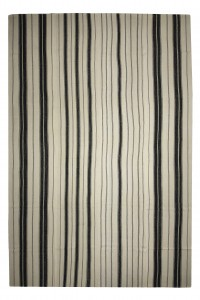 Turkish Natural Rug Black And White Oversized Turkish Wool Kilim Rug 10x15 Feet  313,470