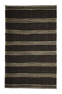 Goat Hair Rug Black And White Turkish Goat Hair Kilim Rug 6x9 Feet  169,267