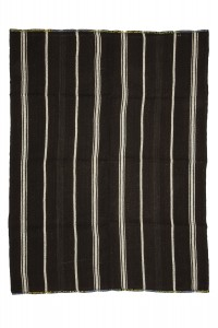 Goat Hair Rug Black And White Turkish Kilim Rug 6x8 Feet  180,237