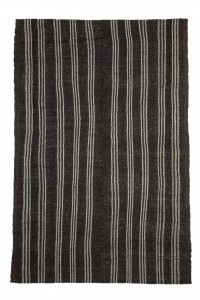 Goat Hair Rug Black And White Turkish Kilim Rug 6x9 Feet  185,275