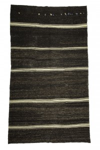 Goat Hair Rug Black And White Turkish Kilim Rug 7x11 Feet  195,340