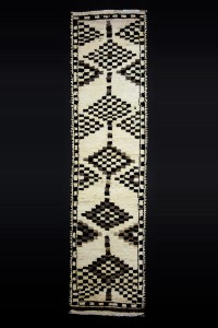Turkish Rug Runner Black and White Turkish Runner Rug 3x11 Feet 87,349