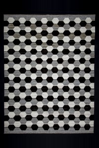 Turkish Natural Rug Black,Gray And White Modern Kilim rug 8x11 Feet  253,330