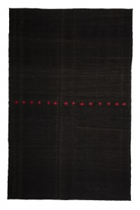 Goat Hair Rug Black Turkish Kilim Rug 7x11 Feet  207,320