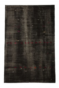 Goat Hair Rug Black Turkish Kilim Rug 7x11 Feet  218,340