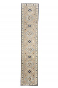 Turkish Rug Runner Blue and Beige Turkish Rug Runner 83,396