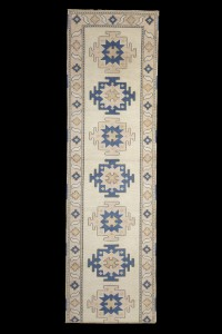 Turkish Rug Runner Blue and Yellow Turkish Rug Runner 91,307