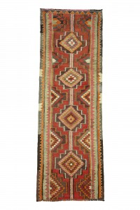 Turkish Rug Runner Bohemian Kilim Rug Runner 3x10 Feet 100,296