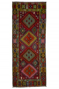 Turkish Rug Runner Bright Kilim Rug Runner 5x12 Feet 152,376