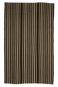 Turkish Natural Rug Brown And White Kilim rug 6x9 Feet  173,280