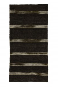 Goat Hair Rug Brown And White Turkish Kilim rug 5x10 Feet 146,293