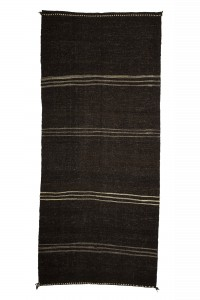 Goat Hair Rug Brown And White Turkish Kilim Rug 5x12 Feet  166,377