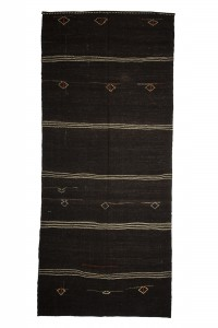Goat Hair Rug Brown And White Turkish Kilim Rug 6x13 Feet  173,394