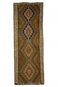 Turkish Rug Runner Brown Turkish Kilim Rug 4x10 Feet 115,313