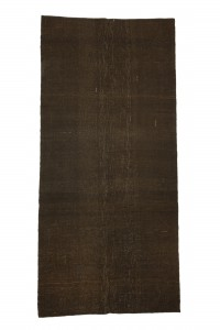 Goat Hair Rug Brown Turkish Kilim Rug 5x11 Feet  160,338