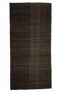 Goat Hair Rug Brown Turkish Kilim Rug 5x11 Feet  166,346