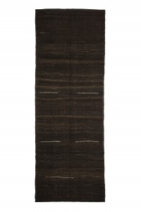 Goat Hair Rug Brown Turkish Kilim Rug 5x13 Feet  141,392