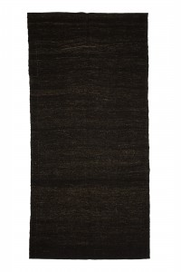 Goat Hair Rug Brown Turkish Kilim Rug 7x10 Feet  208,306