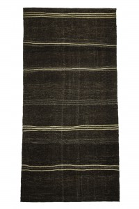 Goat Hair Rug Brown Turkish Natural Kilim Rug 6x11 Feet 173,346