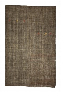 Goat Hair Rug Brownish Gray Turkish Kilim Rug 7x11 Feet  209,330