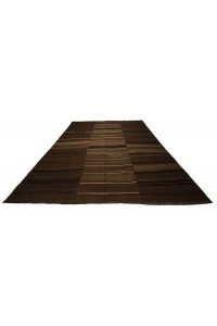 Coffee Brown Wool Turkish Kilim rug 9x11 Feet  277,346 - Turkish Natural Rug  $i