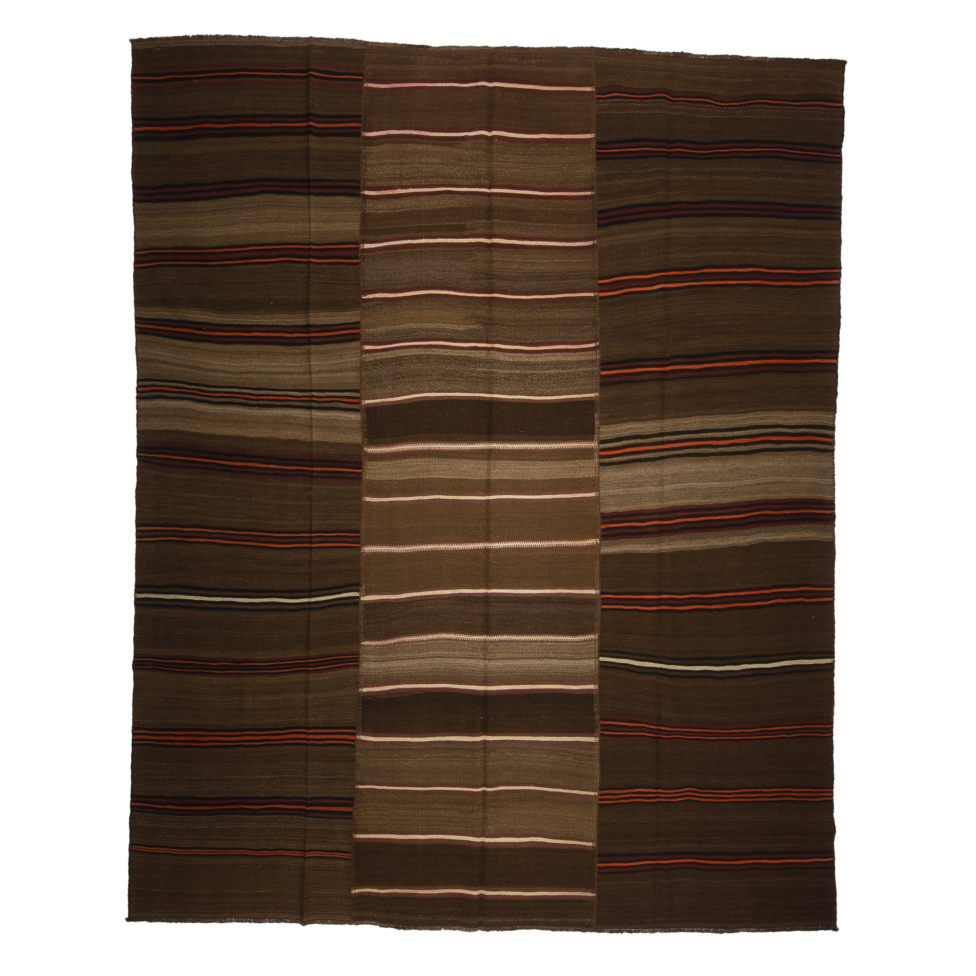 Coffee Brown Wool Turkish Kilim rug 9x11 Feet  277,346 - Turkish Natural Rug