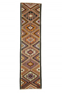 Turkish Rug Runner Colourful Kilim Rug Runner 3x11 Feet 82,327