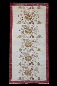 Turkish Rug Runner Cotton and Wool Turkish Carpet Rug 97,196