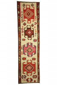 Turkish Rug Runner Cream Pink Turkish Kilim Rug Runner 3x11 Feet  93,345