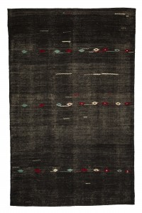 Goat Hair Rug Dark Brown Flat Weave Turkish Kilim Rug 7x11 Feet  221,348