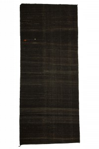 Goat Hair Rug Dark Brown Natural Goat Hair Woven Turkish Kilim Rug 6x14 Feet 176,416