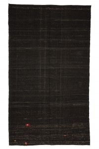 Goat Hair Rug Dark Brown Turkish Kilim Rug 6x10 Feet  178,305