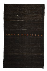 Goat Hair Rug Dark Brown Turkish Kilim Rug 7x10 Feet  197,310