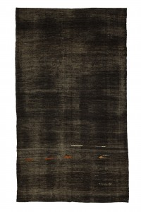 Goat Hair Rug Dark Brown Turkish Kilim Rug 7x11 Feet  197,337