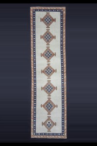 Turkish Rug Runner Diamond Pattern Rug Runner 3x9 Feet 78,285