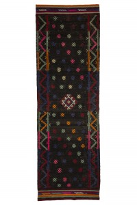 Turkish Rug Runner Embrodiery Kilim Rug Runner 4x12 Feet 119,370