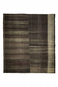 Goat Hair Rug Ethnic Modern Striped Oversize Turkish Goat Hair Kilim Rug 10x12 Feet  320,368