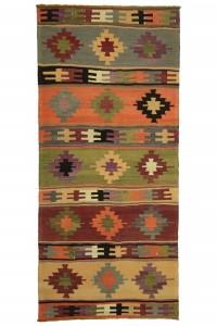 5235 Organic Kilim Tulu Kilim Vintage Kilim Turkish Kilim Antique Kilim Oushak Rug 6.9x5.5 feet Striped Kilim Handmade Kilim