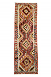 Turkish Rug Runner Flat weave Kilim Runner Rug 4x11 Feet 107,323