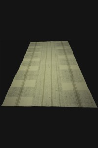 Flat Weave Modern Turkish Cotton Kilim Rug 5x8 Feet 160,262 - Grey Turkish Rug  $i