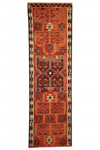 Turkish Rug Runner Flat Weave Turkish Runner Rug 3x11 Feet 101,334
