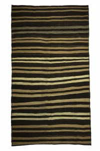 Goat Hair Rug Goat Hair Woven Stripek Turkish Kilim Rug 6x11 Feet  193,338